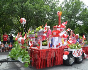 Cake Float in Parade